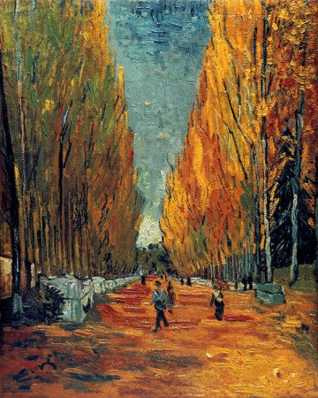 «Аллея Аликампа», Винсент Ван Гог, 1888 год