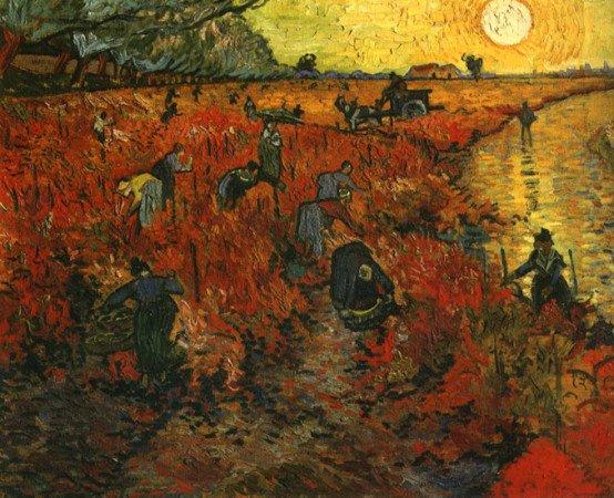 «Красные виноградники в Арле», Винсент Ван Гог