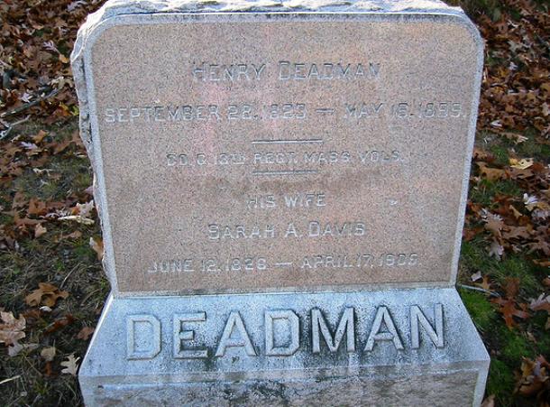 Могила Генри Дедманаи его жены