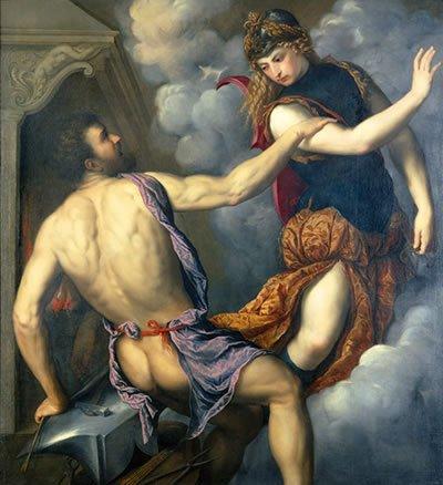 Афина и Гефест
