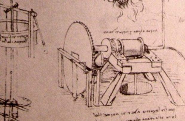Леонардо попробовал свои силы и в области строительства