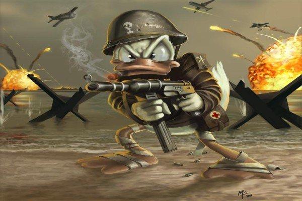 Дональд на войне