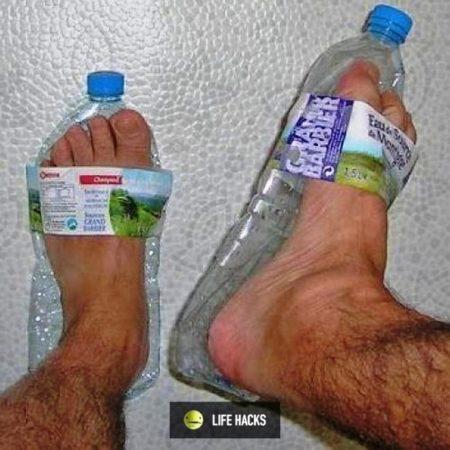 Шлёпанцы из пластиковых бутылок