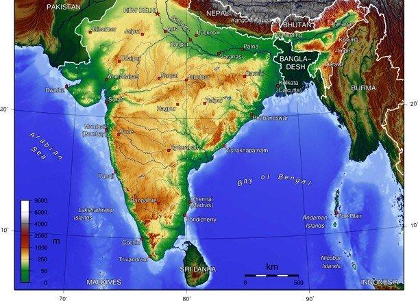 Расположение острова Шри-Ланка