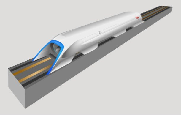 Вакуумный поезд Hyperloop