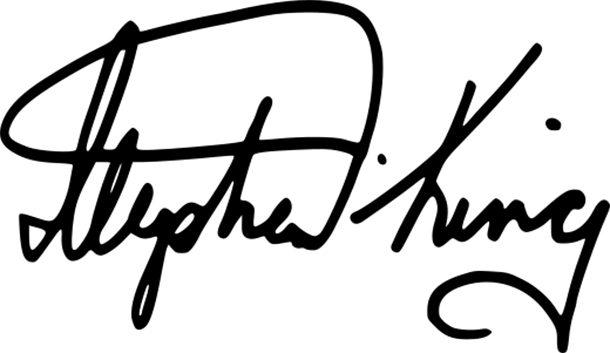 Кинг даёт автографы только на своих книгах