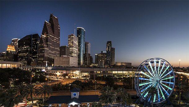 Деловой центр Далласа ночью