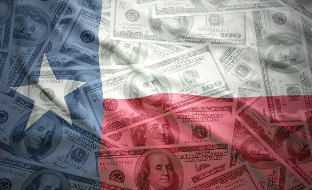 Флаг со звездой и долларами