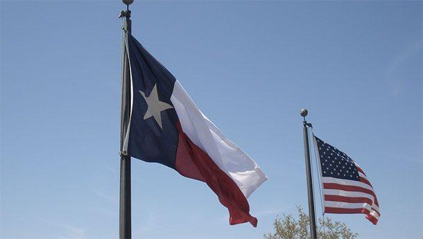 Флаги Техаса и США
