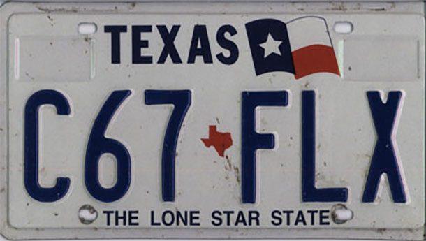 Номерные знаки Техаса