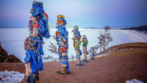 Столбы сибирских шаманов