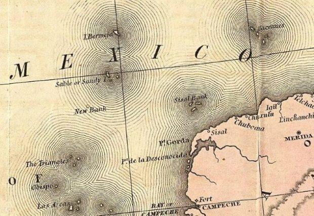 Карта водного пространства Мексики