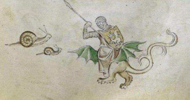 Рыцарь сражается с улитками