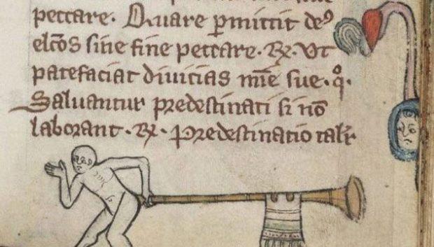 Страница из средневековой книги