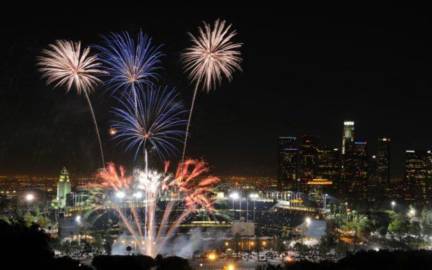 Лос-Анджелес на Новый год