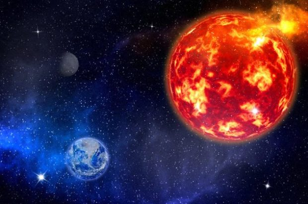 Солнце и Земля, вид из Космоса