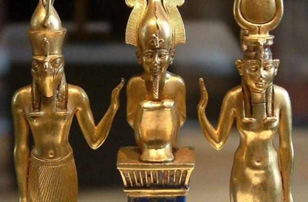 Скульптуры египетских богов