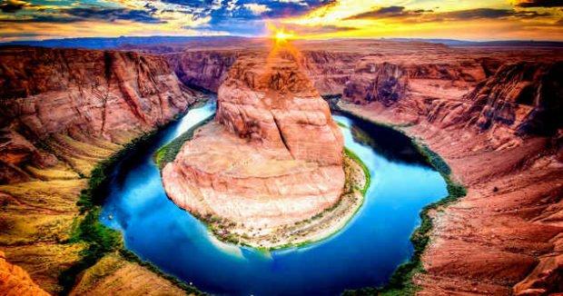 Вид на реку Колорадо, США