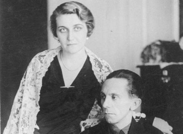 Магда Геббельс с мужчиной