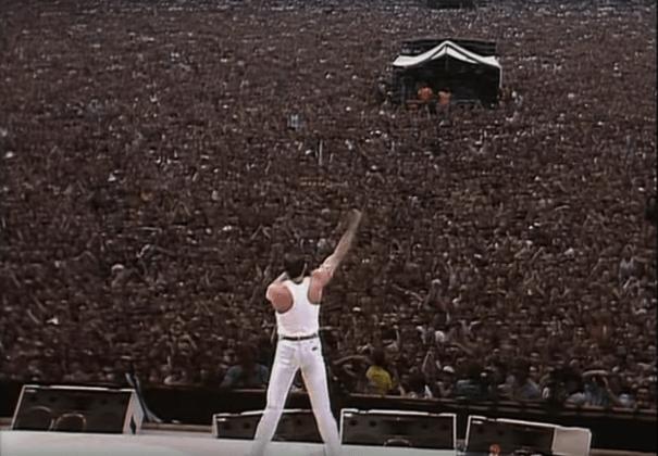 Фото с концерта «Живая помощь» в 1985 году