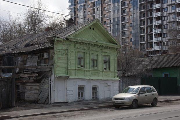 окрашивание фасадов домов перед чм