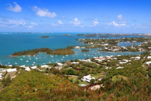 Вид с острова на океан