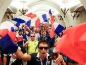 Французские архитекторы-болельщики в метро