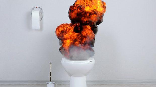 Взрыв в унитазе