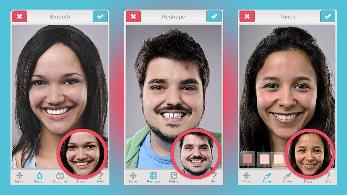 те, другие приложение для фото поставить лицо самых