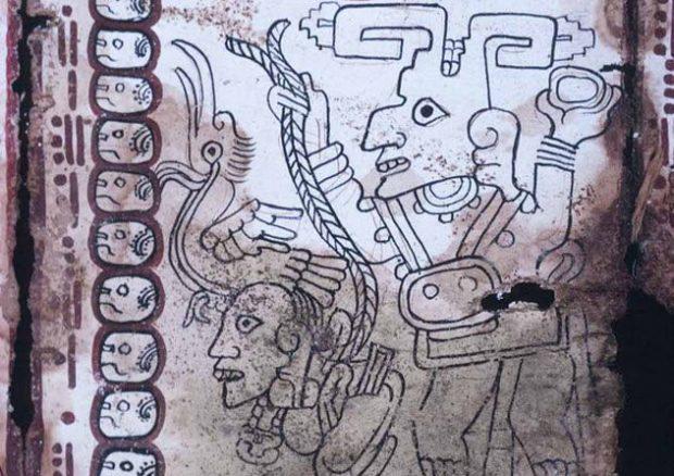 Рисунки майя