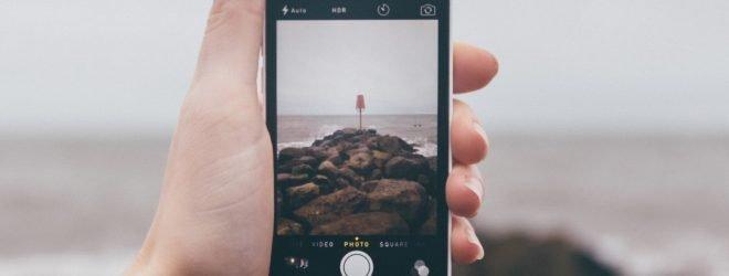 taking photo on iphone