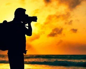Фотограф на закате