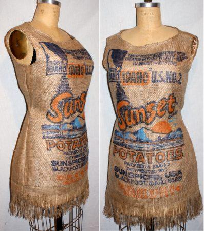 Платье из картофельного мешка