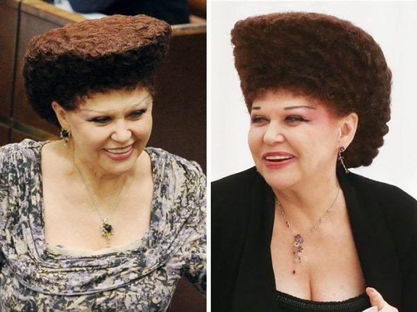 Коллаж из двух фото Валентины Петренко