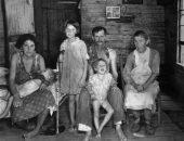 Семейное фото во времена Великой депрессии