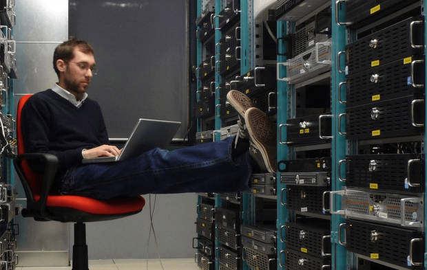 IT-специалист за работой