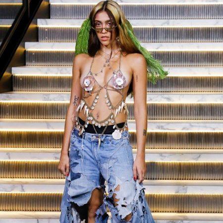 Лурдес Леон на Неделе моды в Нью-Йорке
