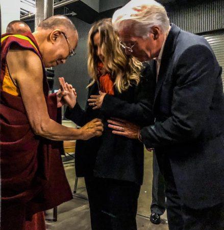 Ричард Гир, его жена и Далай-Лама