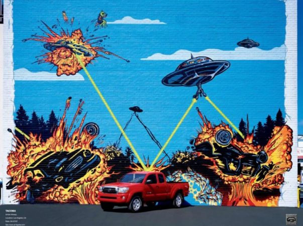 Реклама автомобиля Toyota Tacoma