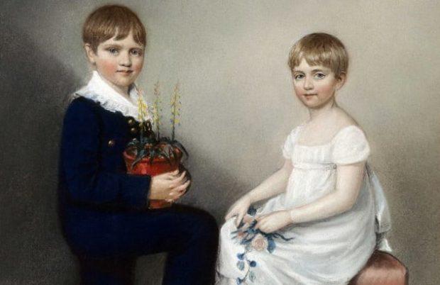Портрет мальчика и девочки