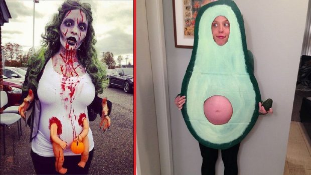 Девушки в костюмах для Хэллоуина