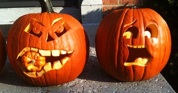 Оригинальные тыквы для Хэллоуина