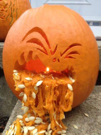 Смешная тыква для Хэллоуина