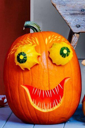 Смешная тыква для хэллоуинской вечеринки