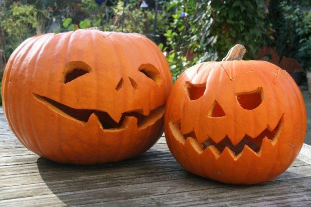Две тыквы для празднования Хэллоуина