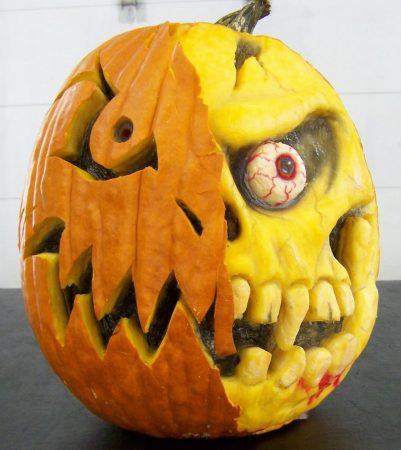 Ужасная тыква для Хэллоуина