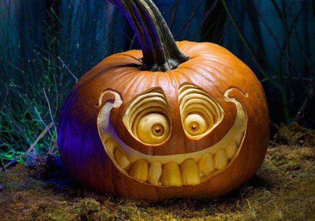 Страшная тыква для Хэллоуина