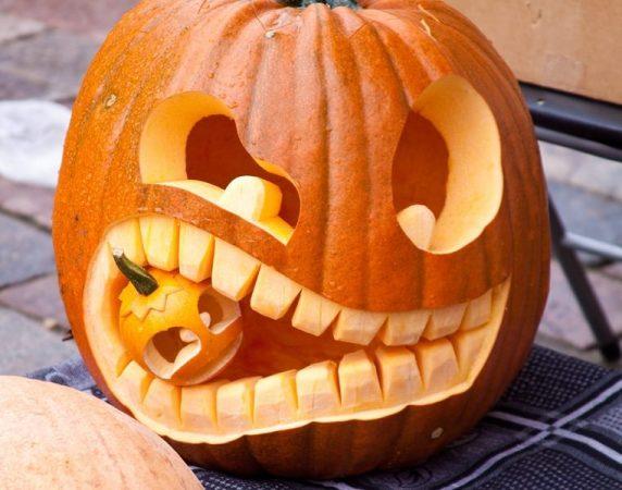 Забавная тыква для хэллоуинской вечеринки