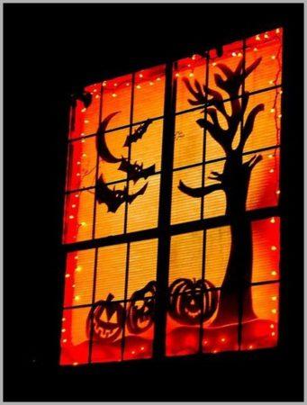 Гирлянда и украшения из бумаги для Хэллоуина
