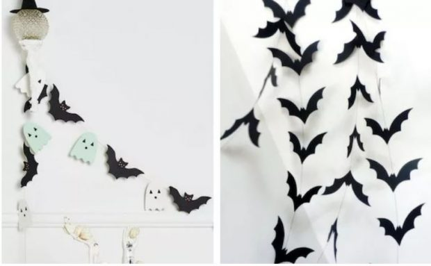 Декор из картона и бумаги для Хэллоуина